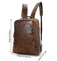 Мужской кожаный рюкзак для ежедневного использования