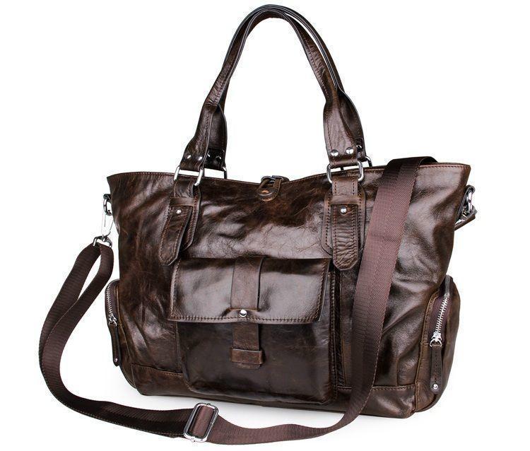 Практичная кожаная сумка для мужчин