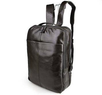 Классический кожаный рюкзак дорожный мужской