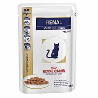 ROYAL CANIN RENAL FELINE WITH CHICKEN паучи с курицей - диета при почечной недостаточности у кошек 85г
