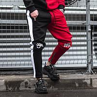 Спортивні штани Гармата Вогонь Joker чорно-червоні(тільки розмір XS), фото 1