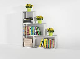 Стеллаж для дома, полка для книг из ДСП на 4 ячейки (4 ЦВЕТА) 1168x1232x290 мм