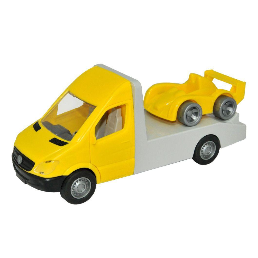 Автомобиль Mercedes-Benz Sprinter эвакуатор желтый (39663)