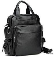 Стильная сумка рюкзак кожа для парней
