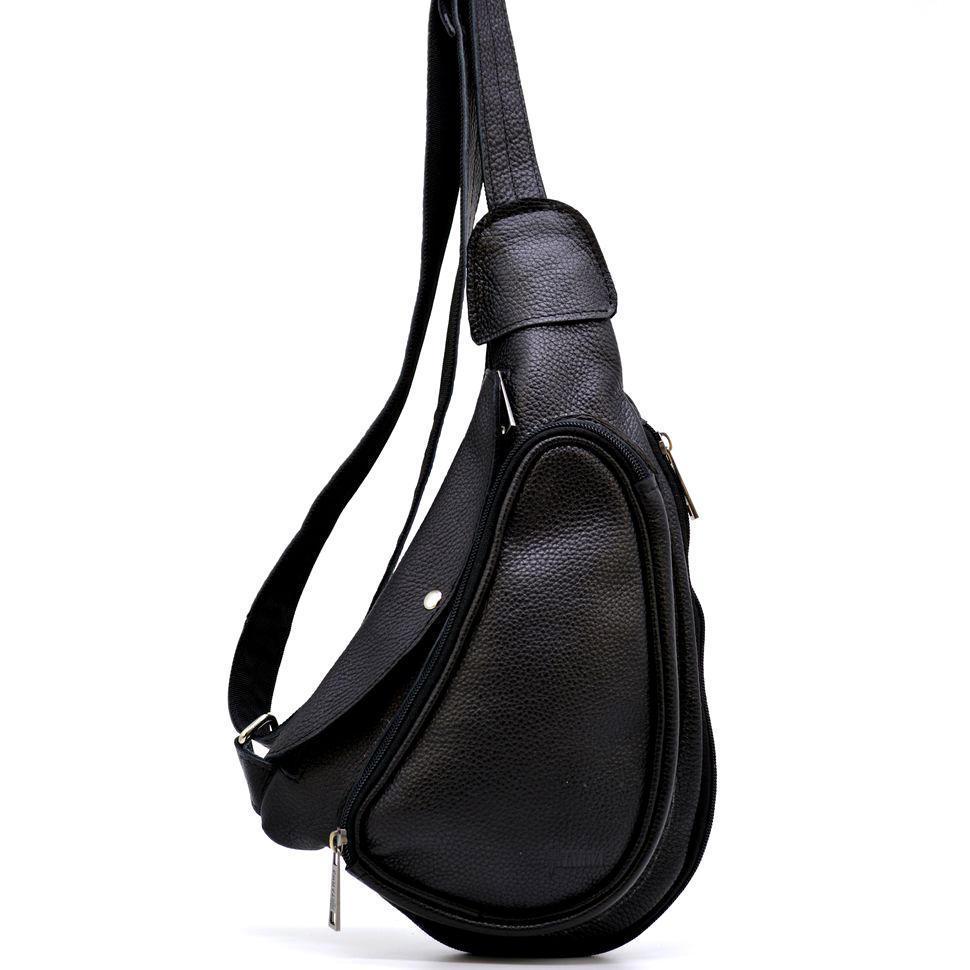 Оригинальный мини-рюкзак из натуральной кожи на одно плечо