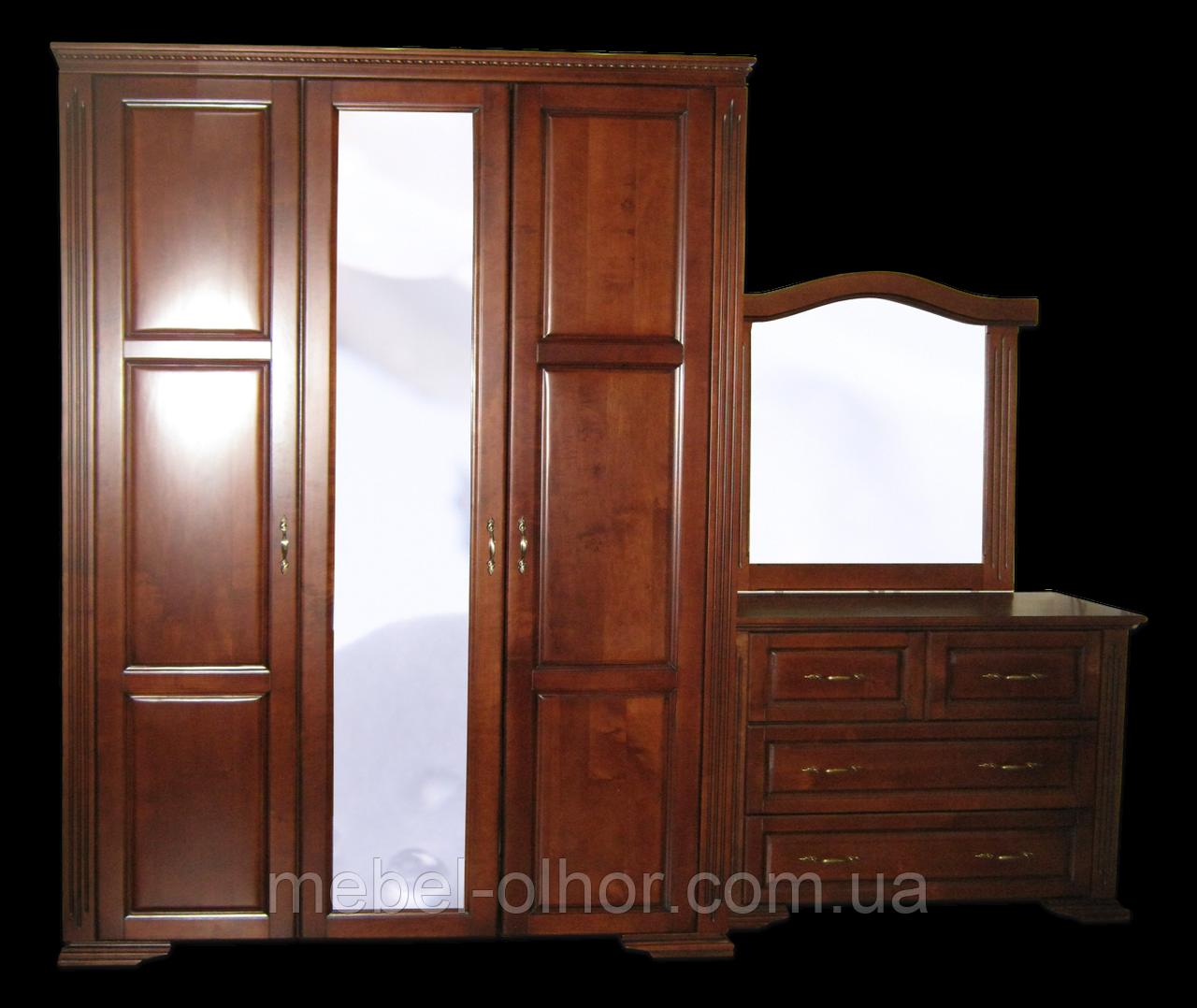 Шкаф из массива Флоренция (ольха)