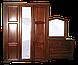 Шкаф витрина из массива  (эмаль белая), фото 2