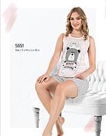 Пижама женская летняя хлопок шорты - майка Fawn 5651