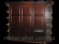 Шкаф 3-х дверный из дерева Версаль +радиусн. карниз