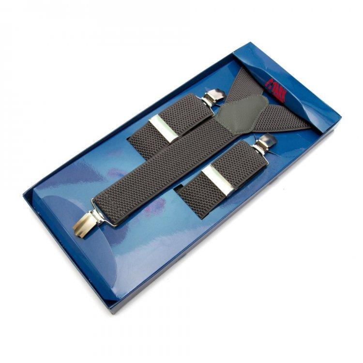 Подтяжки Gofin suspenders Y Образные Серые (Pu-0473)