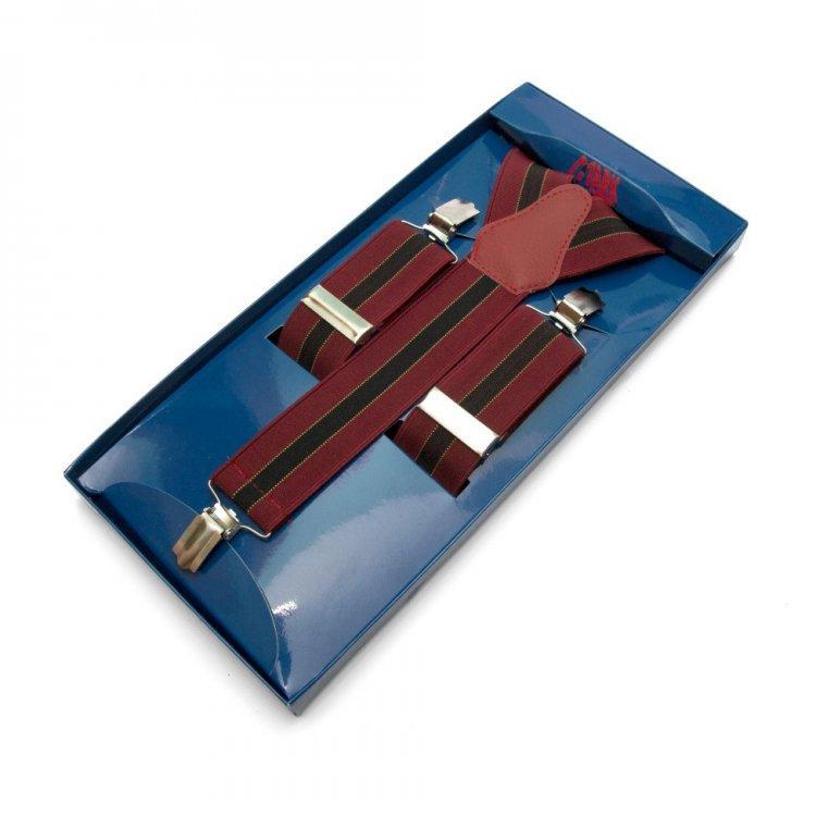 Подтяжки Gofin suspenders Y Образные Бордовые (Pu-0479)