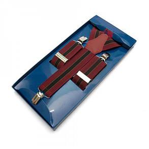 Подтяжки Gofin suspenders Y Образные Бордовые (Pu-0479), фото 2