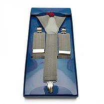 Подтяжки Gofin suspenders Y Образные Серые (Pu-0474), фото 2