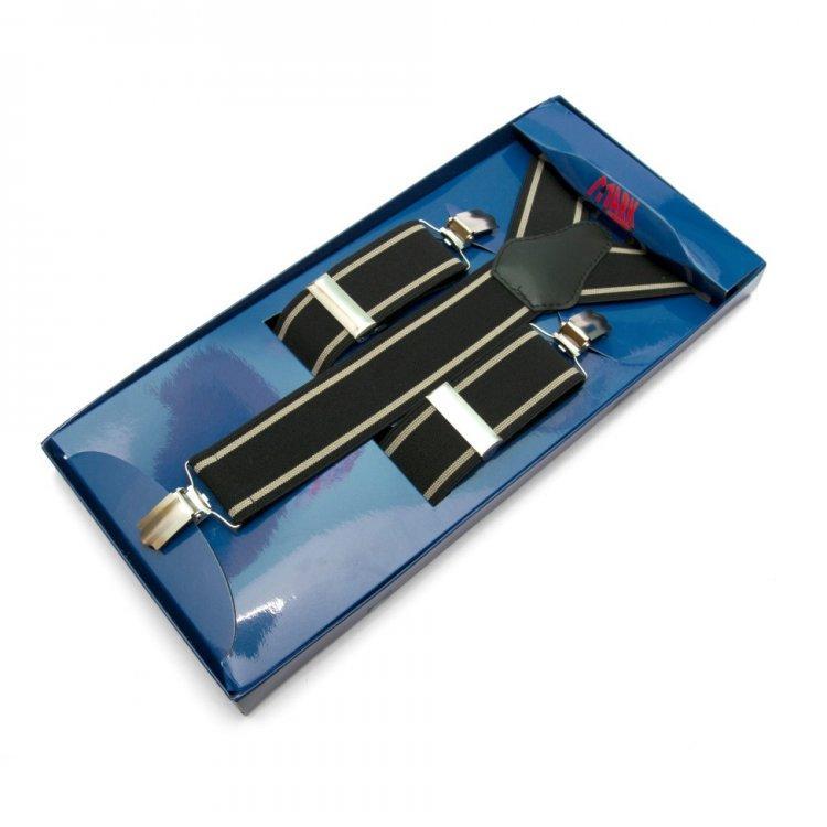Подтяжки Gofin suspenders Y Образные Черные (Pu-0482)