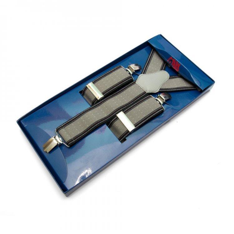 Подтяжки Gofin suspenders Y Образные Серые (Pu-0492)
