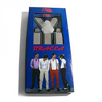 Подтяжки Gofin suspenders Y Образные Серые (Pu-0492), фото 3