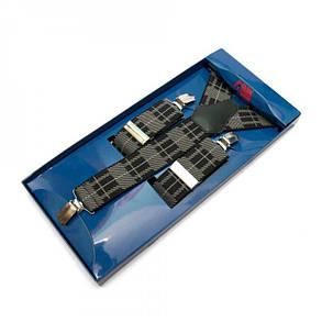 Подтяжки Gofin suspenders Y Образные Черно-бежевые (Pu-0497), фото 2