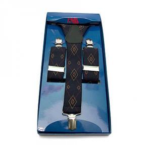 Подтяжки Gofin suspenders Y Образные Темно-синие (Pu-0489), фото 2