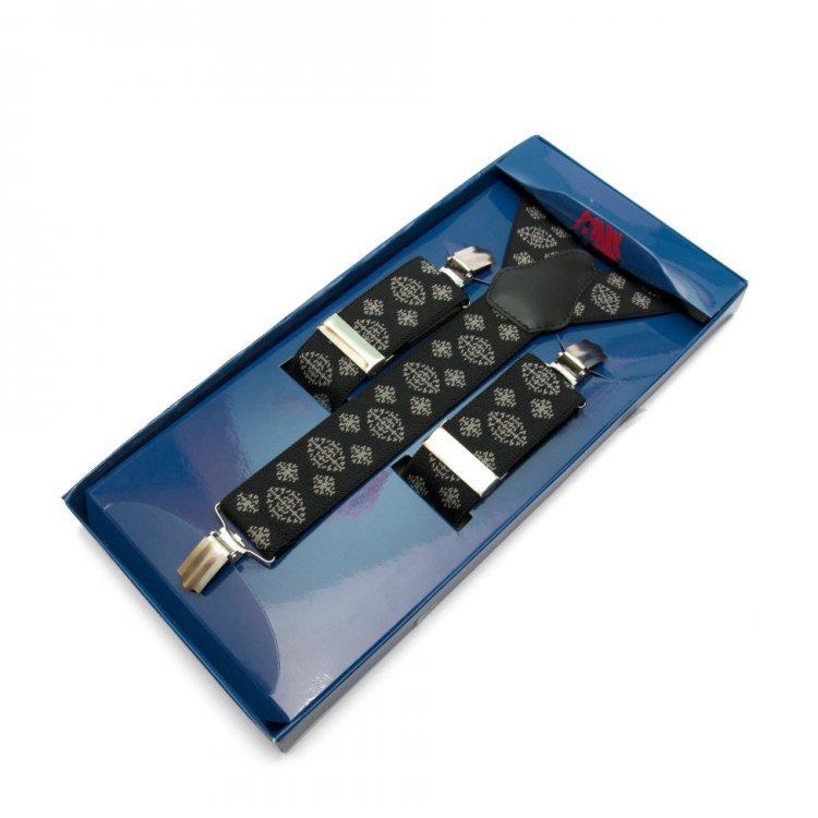 Подтяжки Gofin suspenders Y Образные Черные (Pu-0495)