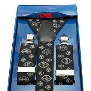 Подтяжки Gofin suspenders Y Образные Черные (Pu-0495), фото 2