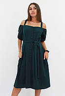 S, M, L / Зручне повсякденне плаття Francheska, темно-зелений L (46-48)