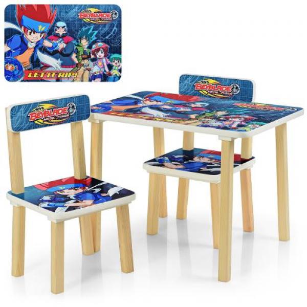 Детский столик со стульчиками деревянный 507-56