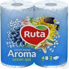 """Папір туалетний """"Ruta""""Aroma голубий 2ш.4рул."""