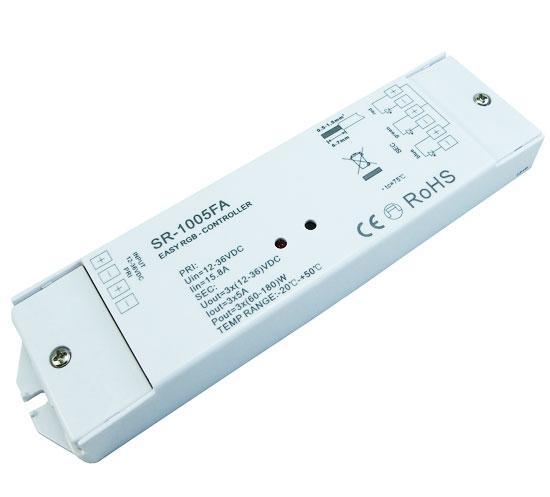 LED контролер-приймач SR-1005FA  RGB контроллер 3канала ток 5А/канал 12-36VDC SUNRICHER 4150
