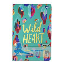 "Блокнот-мотиватор YES ""Wild Heart"" серії ""Fitness"", 140 х 210мм, 96л."