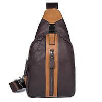 Молодежный слинг рюкзак на одну шлейку для парней