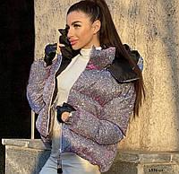 Мерцающая женская куртка супер Хит 1536 Ол, фото 1