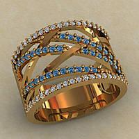 Красивое золотое,женское колечко