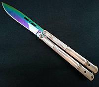 Нож балисонг бабочка c оригинальным стильной ручкой, высокое качество сборки