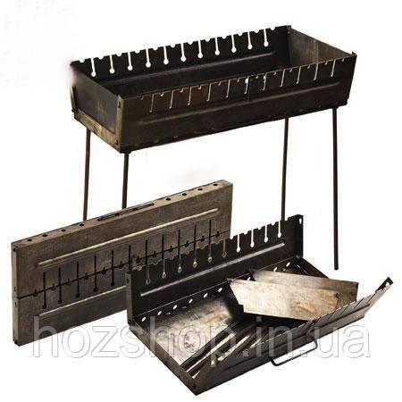 Мангал-чемодан на 12 шампуров (металл 2мм)