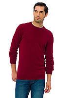 Бордовый мужской свитер LC Waikiki / ЛС Вайкики c круглым воротом