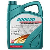 Полусинтетическое моторное масло Addinol 10w-40 premium star mx 1048 4L
