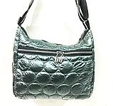 Женские стеганные сумки со змейкой на плечо (СЕРЫЙ)26*34см, фото 2