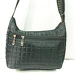 Женские стеганные сумки со змейкой на плечо (СЕРЫЙ)26*34см, фото 3