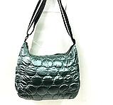 Женские стеганные сумки со змейкой на плечо (СЕРЫЙ)26*34см, фото 5