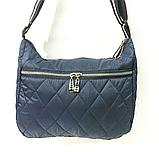 Женские стеганные сумки со змейкой на плечо (СЕРЫЙ)26*34см, фото 6