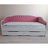 """Детская и подростковая кровать """"Л-9"""" (с мягкой спинкой)"""