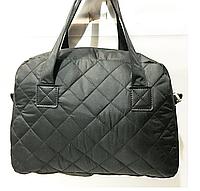 Дешёвые стеганные сумки женские на плечо оптом (ЧЕРНЫЙ)25*32см