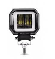 Світлодіодна протитуманна фара LED з ангельськими очками 95х73мм 20W 1500lm (1шт), фото 1