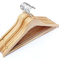 Вешалки 10шт деревянные в лакокрасочном покрытии, 44см