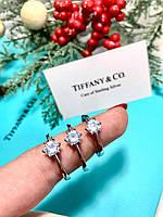 Женское серебряное  Кольцо Тиффани