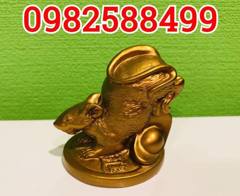 Статуэтка Золотая крыса с монетой и слитком золота