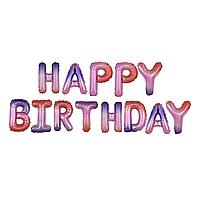 Фольгированная надпись 14' Happy BirthdayКитай, 35 см