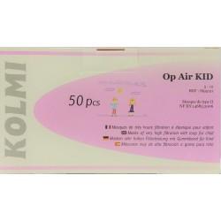 Медицинские детские (хирургические) маски от 5 до 12 лет с петлями для ушей № 50