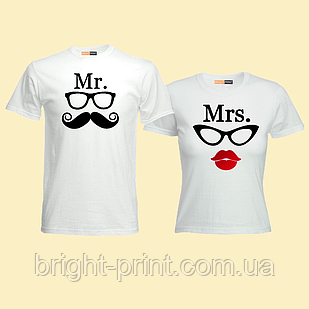 """Парний набір футболок """"Mr та Mrs"""""""