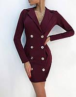 Платье пиджак в классическом стиле